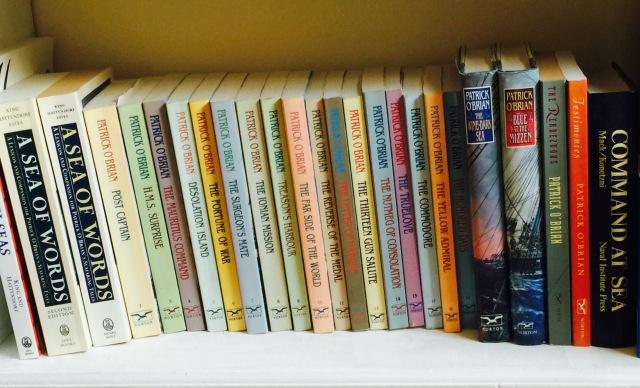 The Patrick O'Brian bookshelf